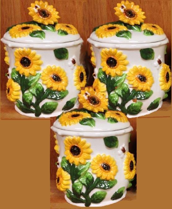 Sunflower Kitchen Decor: Sunflower Kitchen Decor Theme Ceramics