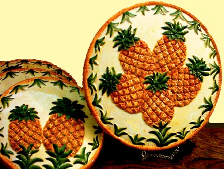 Pineapple Kitchen Decor Tropical Theme Ceramic