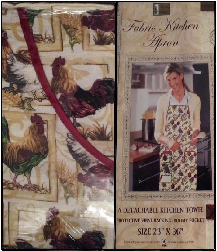 Rooster Themed Cotton Towel & Craft or Kitchen Apron