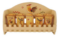 Bamboo Rooster spice set
