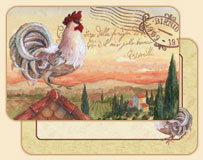 Rooftop Rooster Wipe-clean 4 Vinyl/Plastic Placemats