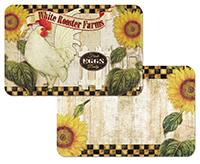 4 Farmland Country Rooster Sunflower Placemats