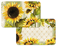 4 Sunflowers In Bloom Vinyl Plastic Placemats