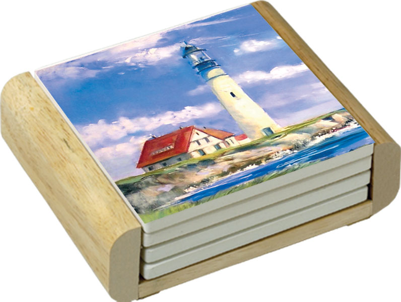 Lighthouse Coastal Decor Theme Kitchen Decor Ceramic