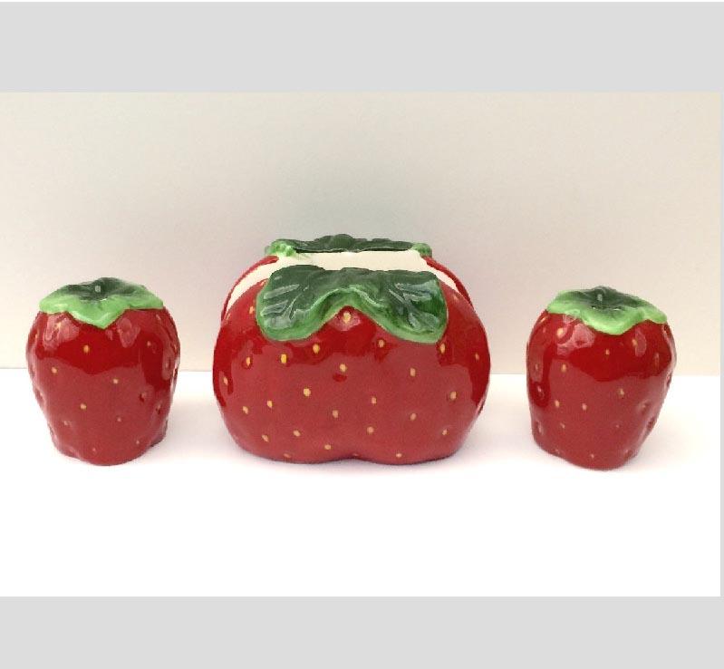 Excellent Strawberry Kitchen Decor Theme Ceramics Country Vs61